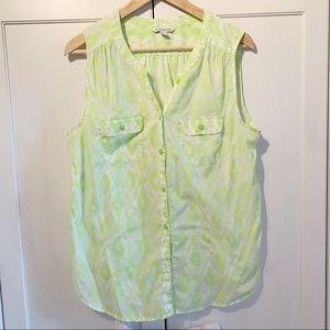 American Eagle outfitters tribal neon print Blouse
